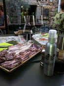 A Cantina di l'Orriu  - degustation de jambon fermier. -