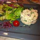 , Entrée : A la Table Gourmande  - Rillettes de saumon -