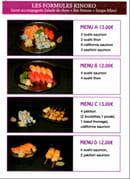 Kinoko Sushi  - Menu page 1 -