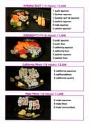 Kinoko Sushi  - Menu page 3 -