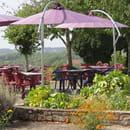 L'Hostellerie du Bourg D'Hem  - terrase vue sur la Creuse  -