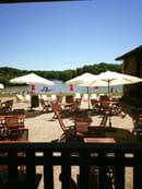 La Grange du Pin  - espace terrasse vu lac et parc. -