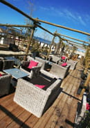La Plage des Bikinis  - la terrasse côté bar -