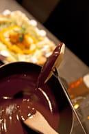 La Table de Savoie et la Table de Bretagne  - Fondue de fruits frais au chocolat -