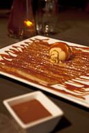 La Table de Savoie et la Table de Bretagne  - Crèpe au Caramel au Beurre Salé (Caramel maison, glace vanille) -