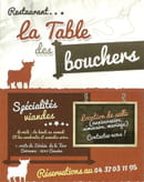 La Table des bouchers   © Carte de visite