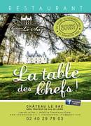 La Table des Chefs - Château Le Saz  - plaquette du restaurant  -   © château LE SAZ