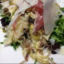 , Entrée : Le Gard 1895  - Salade d'artichauts épineux de ligure, jambon serrano, copeaux de parmesan -