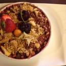 , Dessert : Le Jardin Gourmand  - Crumble myrtille rhubarbe -