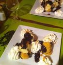, Dessert : Le Paradis Blanc  - Profiterolles faites maison (avec du vrai chocolat chaud!) -