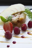 Le Petit Bouchon  - Compotée Pomme-Pêche au basilic ... -   © Afouchet