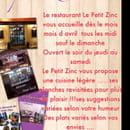 , Restaurant : Le Petit Zinc