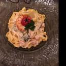 , Plat : Le Viale Carnot  - Pasta, gambas, etc. Délicieux ! -