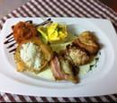 , Plat : Les Fins Gourmets  - Tournedos de lotte rôti au lard -