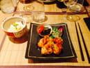 , Plat : Nobuki Table Japonaise  - Poulet frit gingembre sauce ankaké -
