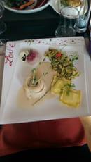, Plat : Restaurant L'Arôme - Jean-Jack Monti  - Poisson et ravioles -