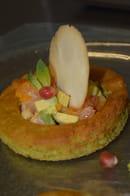 Restaurant la Couleuvrine  - Tendre Avocat, fruits exotiques -   © La Couleuvrine