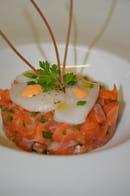 Restaurant la Couleuvrine  - Tartare de Saumon, Carpaccio de Saint Jacques -   © La Couleuvrine