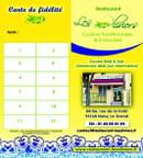 Restaurant les Oliviers  - carte de fidélité  -   © aouimeur kamel