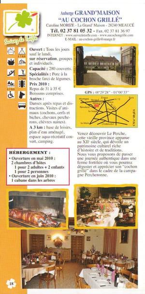 Auberge grand 39 maison restaurant de cuisine traditionnelle for Auberge de grand maison