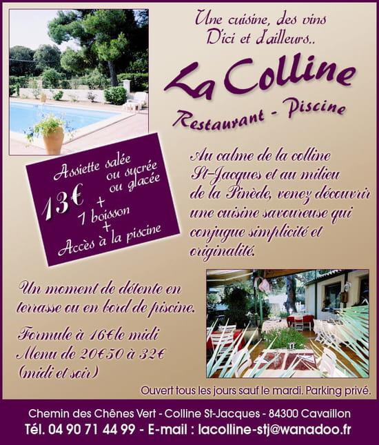 Restaurant Colline Saint Jacques Cavaillon