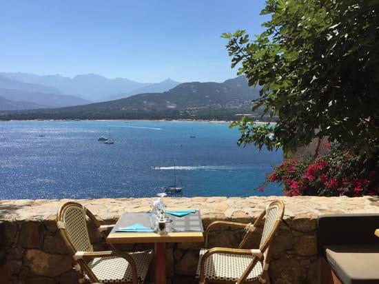 , Restaurant : A Candella  - Terrasse surplombant la baie de Calvi -