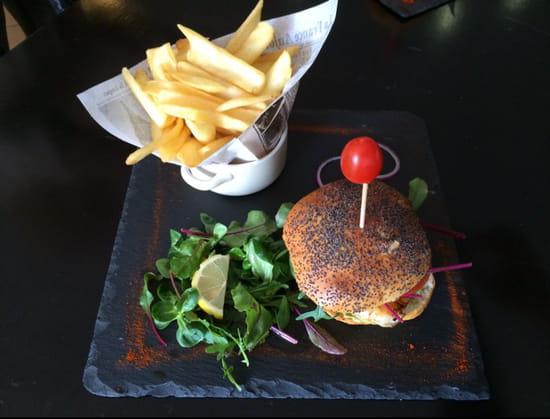 , Plat : A l'Ardoise  - Burger classique bacon pain artisanal  -