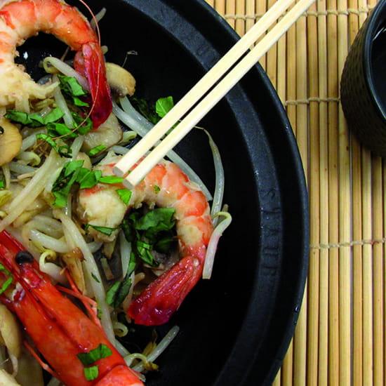 A l'Ecole de Cuisine  - crevettes aigre douce -   © La Matière Vive