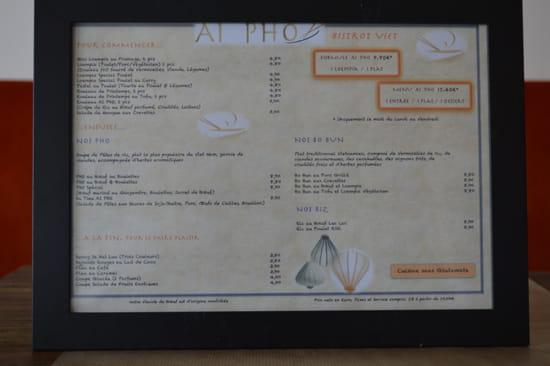 AI PHO Bistrot Viet  - Carte des plats -