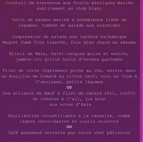 Amaryllis restaurant  - Flyer - Saint Valentin 2013 - Menu -