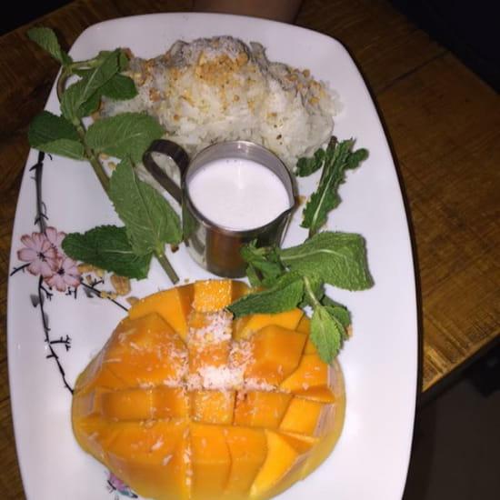 , Dessert : Au Chateau  - Mangue Rice coco -