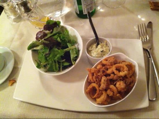 , Entrée : Au Sourd  - Fricassé de calamars - Menu a 35€  -