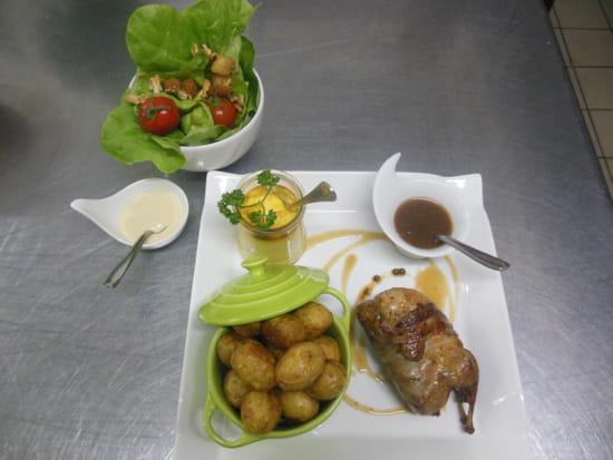 Auberge de L'Ance  - caille rotie et pommes de terre grenaille -