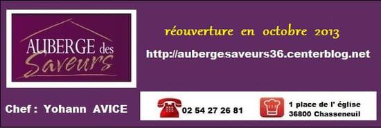 Auberge des Saveurs  - en Indre - 36 -   © jacques voyages