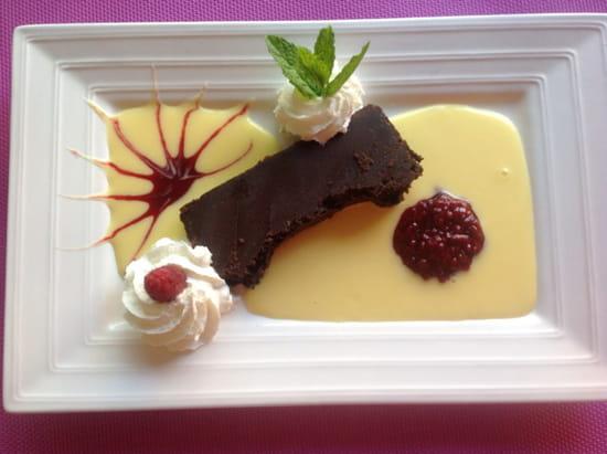 , Dessert : Auberge des Vignerons  - Fondant chocolat -