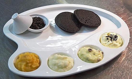 Auberge Napoleon  - Caviar Francais et ses purées -   © f.caby