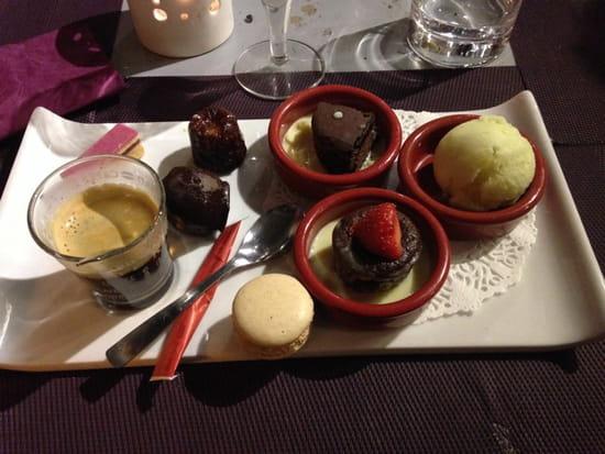 , Dessert : Blues Beach  - Café Gourmand -