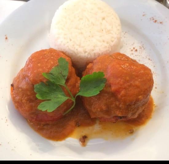 , Plat : Brasserie de la Bourse  - Tomates farcies au riz -