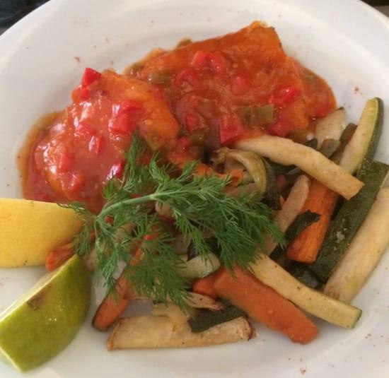 , Plat : Brasserie de la Bourse  - Cabillaud aux légumes  -