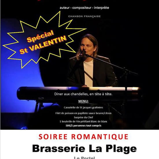 , Brunch : Brasserie La Plage  - Soirée St Valentin -