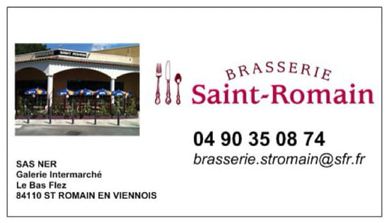 , Restaurant : Brasserie ST ROMAIN
