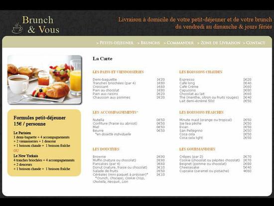 Brunchezvous.com  - la carte des menus -   © brunchezvous.com