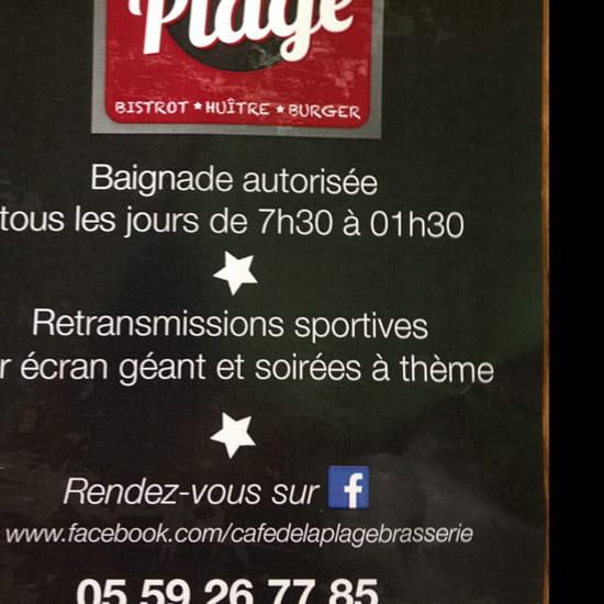 , Restaurant : Café de la plage