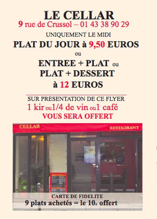 Cellar  - Promo du Midi -