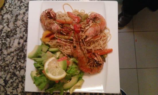 Coté Terrasses  - wok crevette -