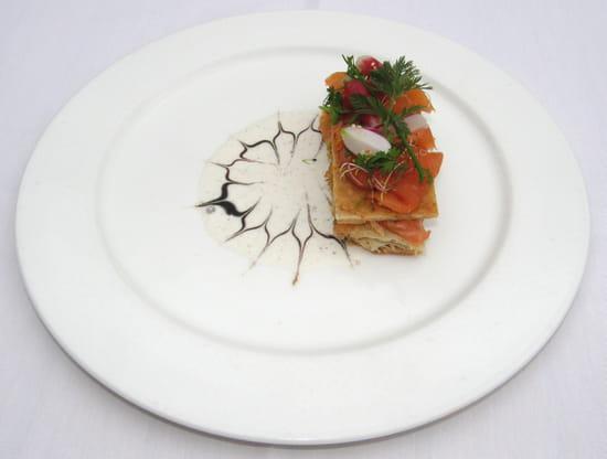Ecusson - Manoir Hôtel  - Millefeuille de Saumon -