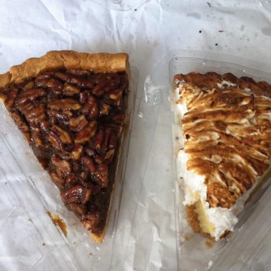 , Dessert : Freddie's Deli  - Tarte aux noix de pécan et tarte au citron vert  -
