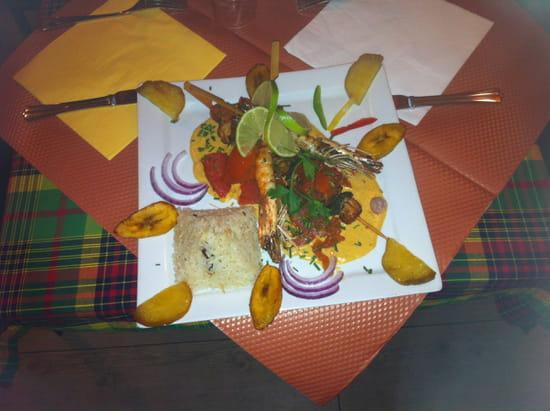 Kaz d'Epices  - Jambalaya brochettes de poisson exotique -