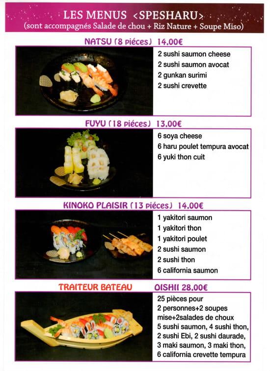 Kinoko Sushi  - Menu page 4 -
