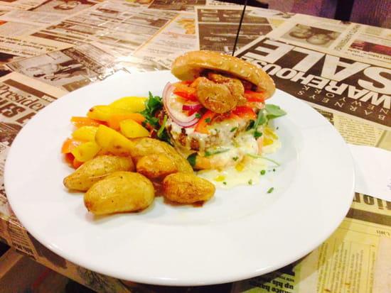 , Plat : L'air de rien  - Burger 2 luxe au foie gras poêlé ..  -